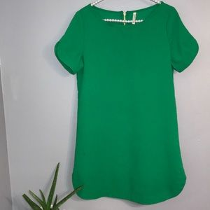 Mottoshop green cute tunic with gold zipper